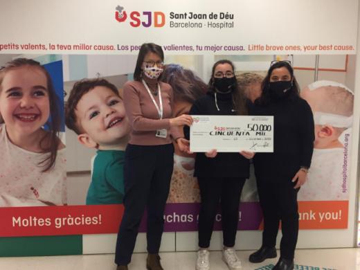 sexto cheque de 50.000 euros al Hospital Sant Joan de Déu para investigar el Rabdomiosarcoma